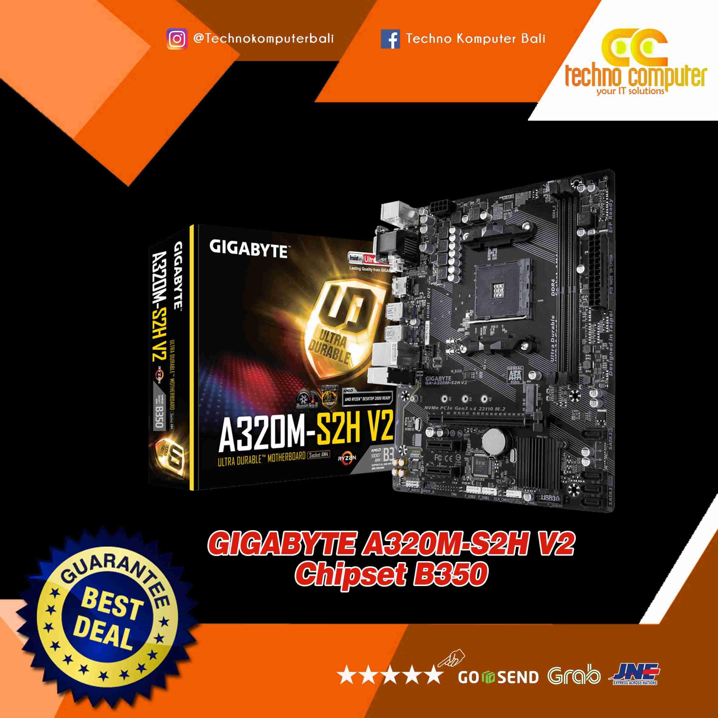 GIGABYTE A320M-S2H-V Chipset AMD B350 AM4