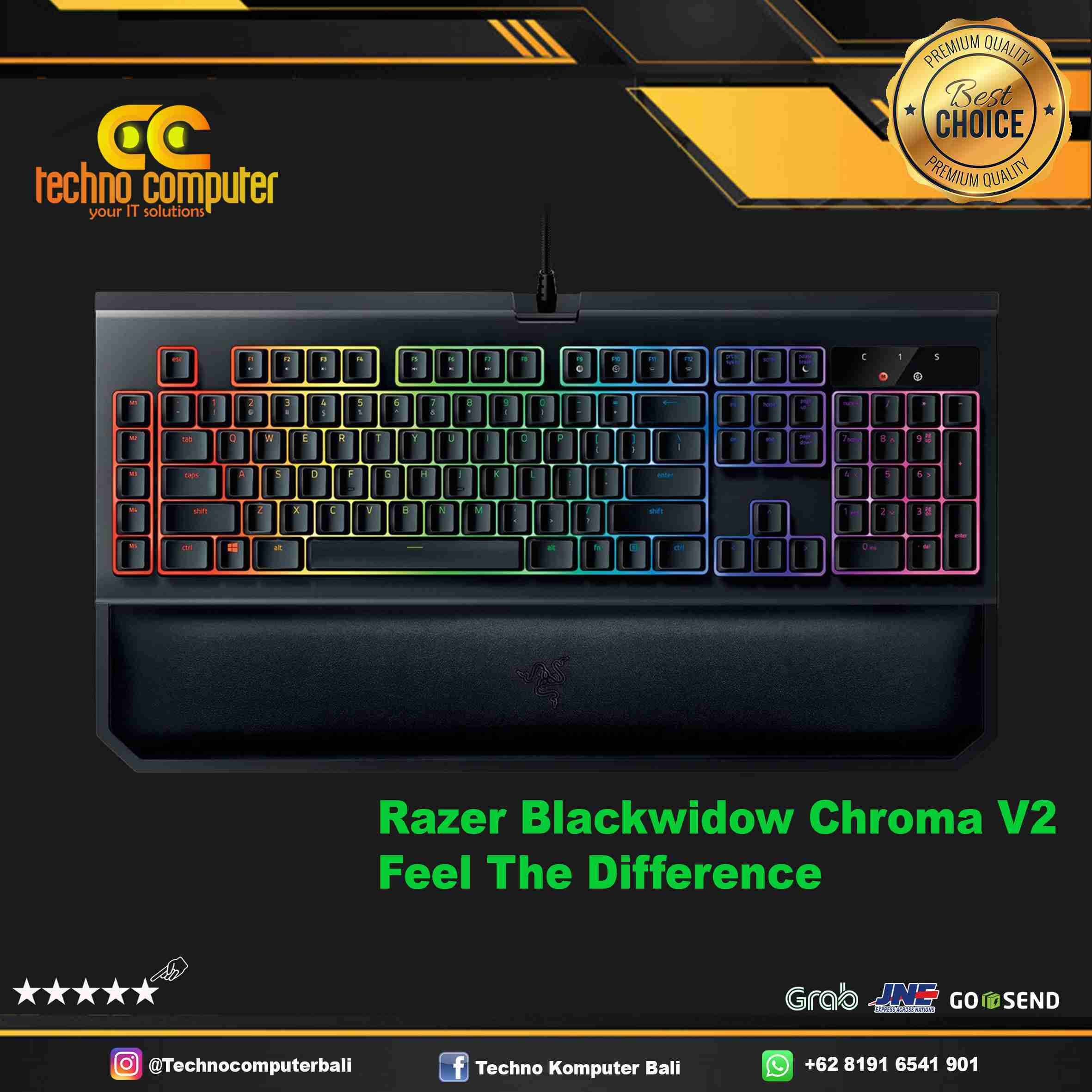 KEYBOARD GAMING RAZER BLACKWIDOW CHROMA V2 - GREEN SWITCH