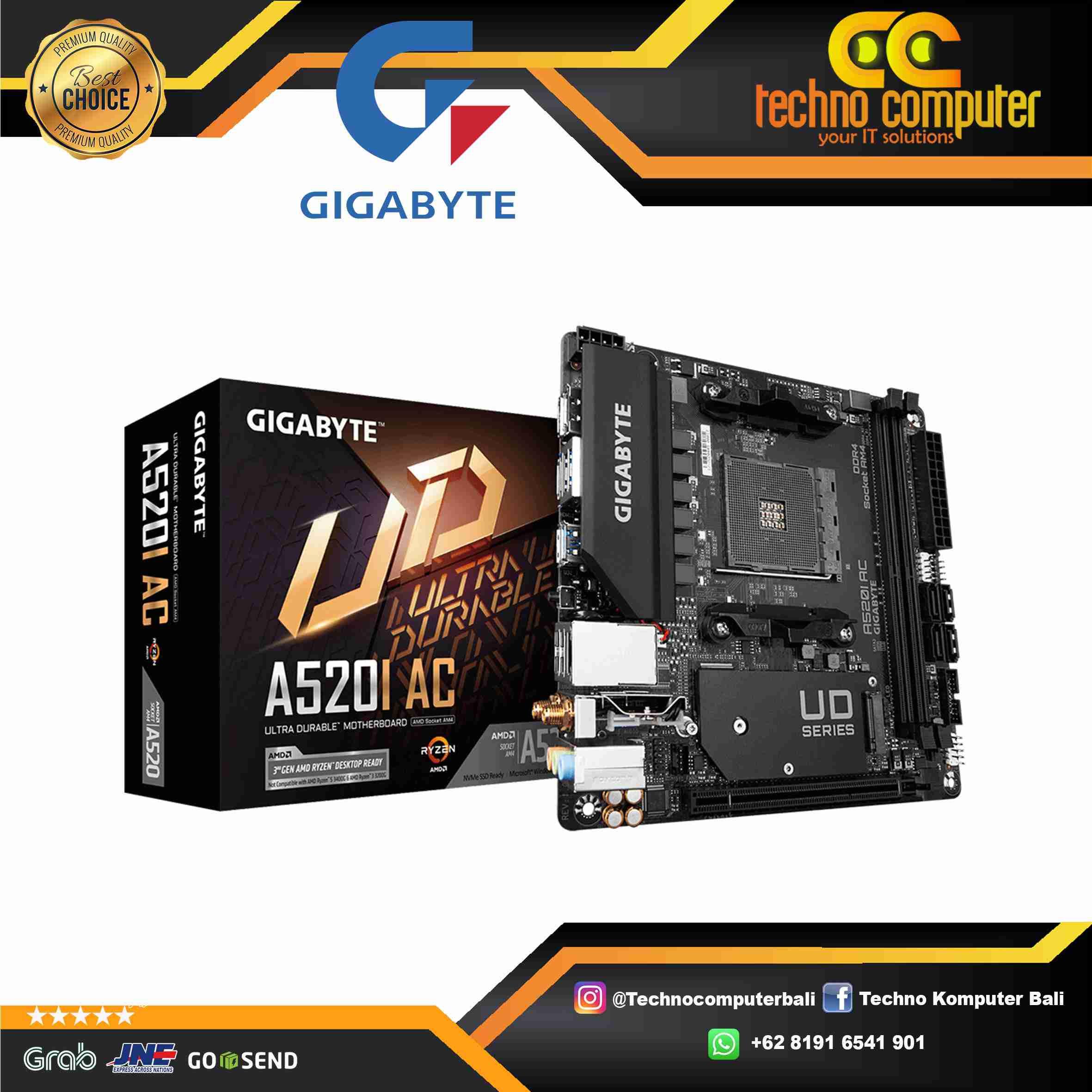 GIGABYTE A520i AC Mini-ITX WIFI - AMD AM4