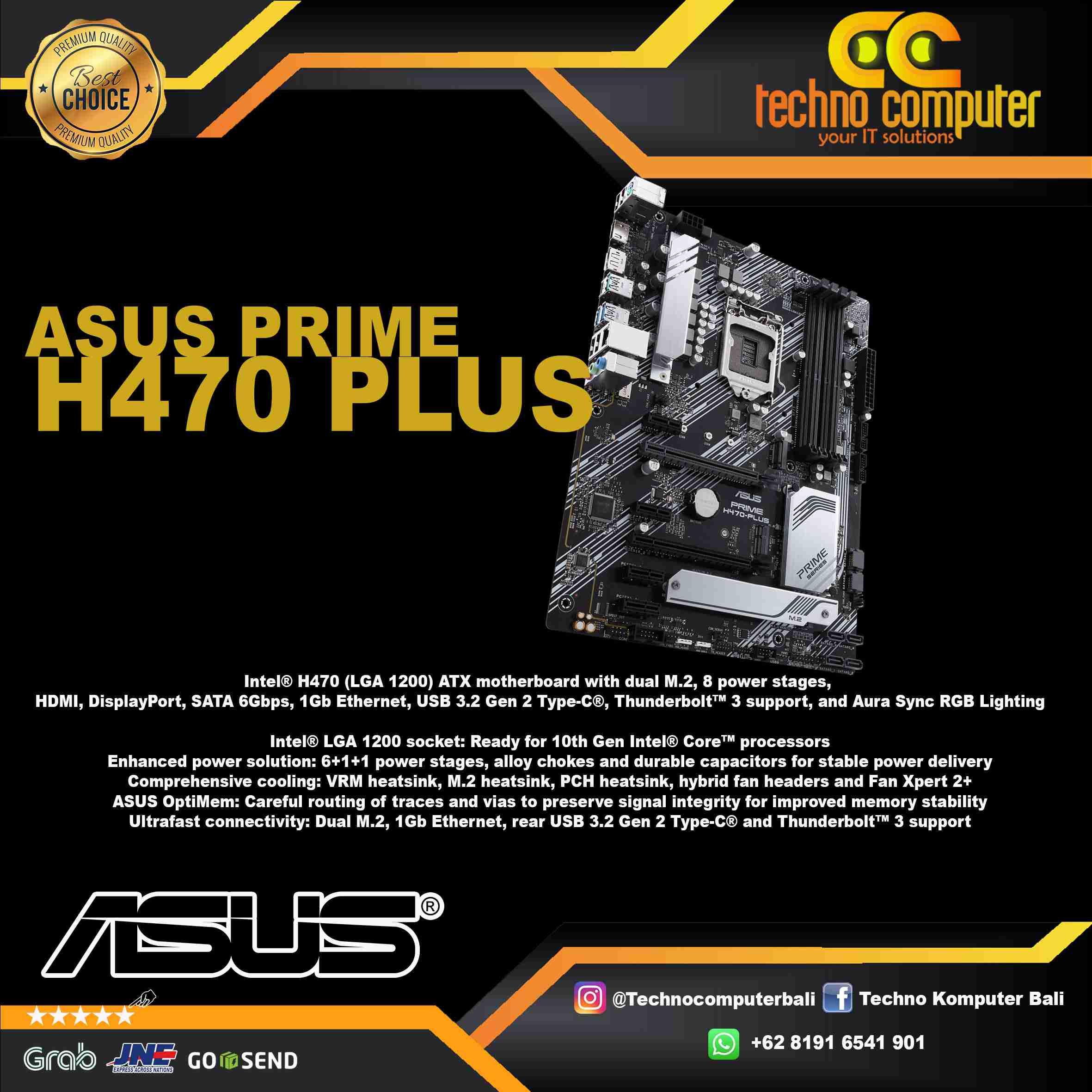 ASUS PRIME H470 PLUS - INTEL LGA 1200