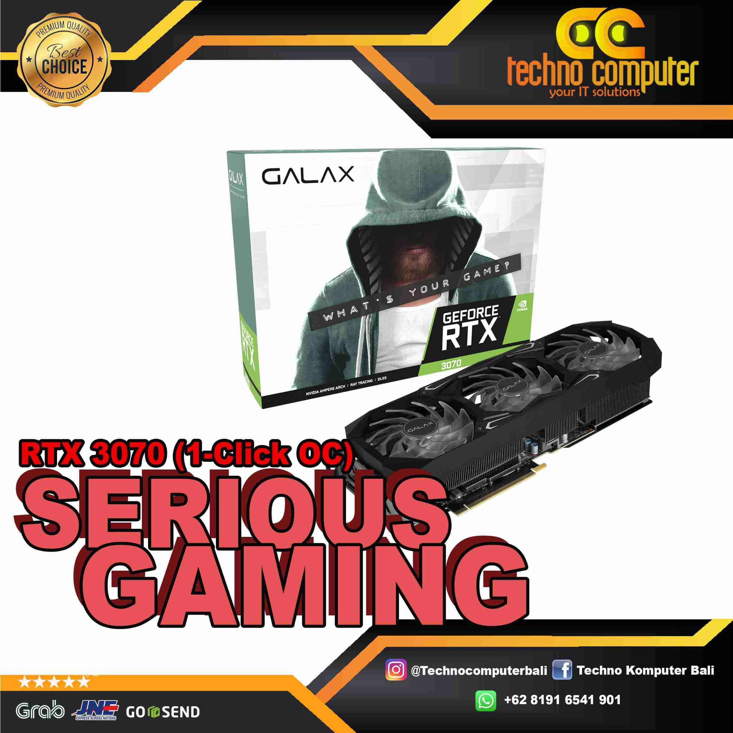 GALAX GeForce RTX 3070 SG (1-Click OC) 8GB GDDR6 256-bit   RTX3070