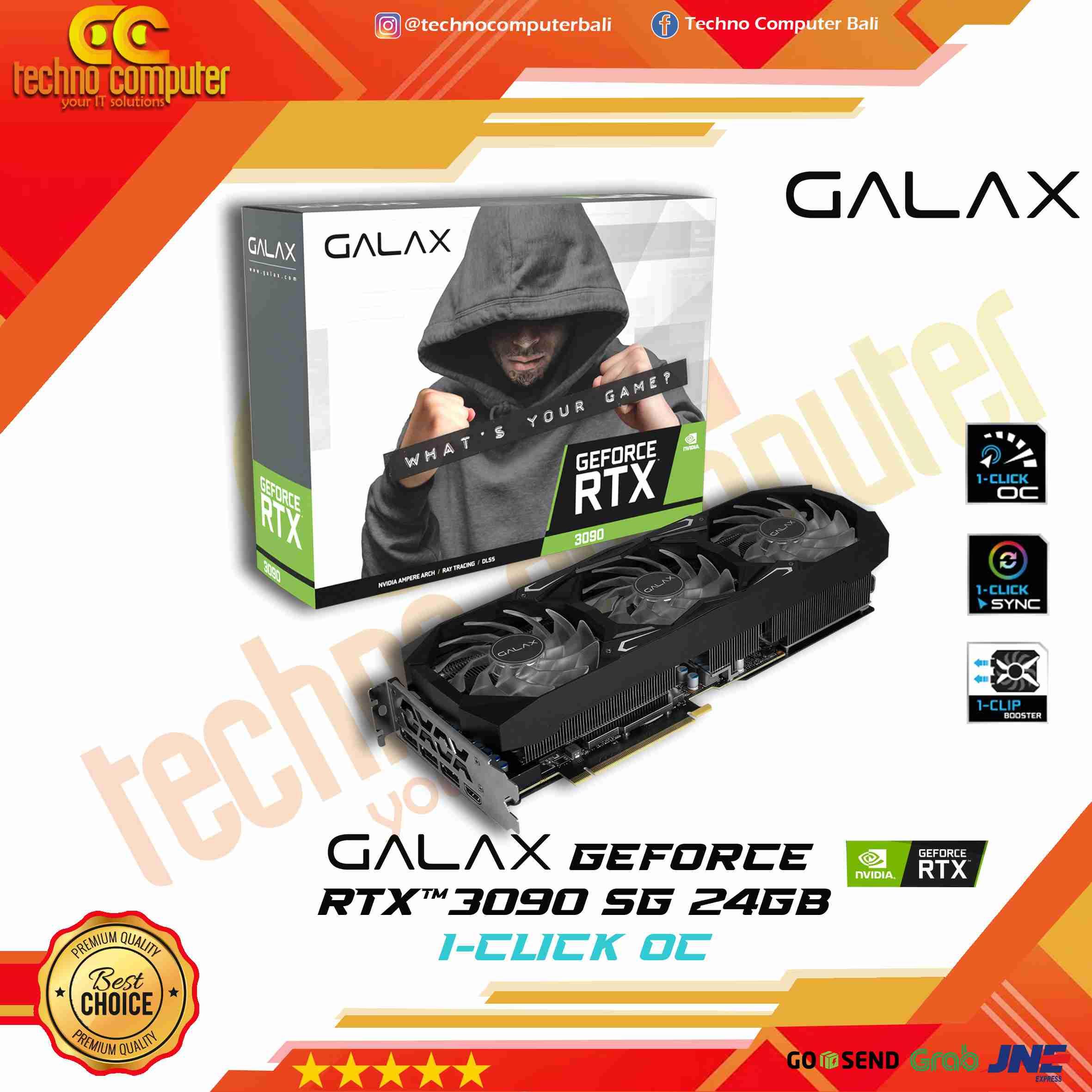 GALAX NVIDIA RTX 3090 SG (1-CLICK OC) 24Gb - GEFORCE RTX3090