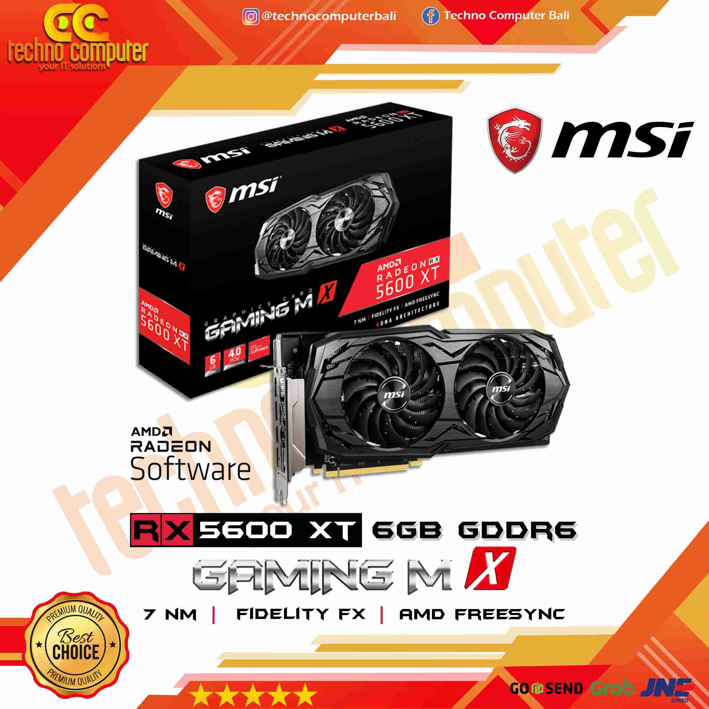 MSI Radeon RX 5600 XT 6GB GDDR6 - Gaming MX