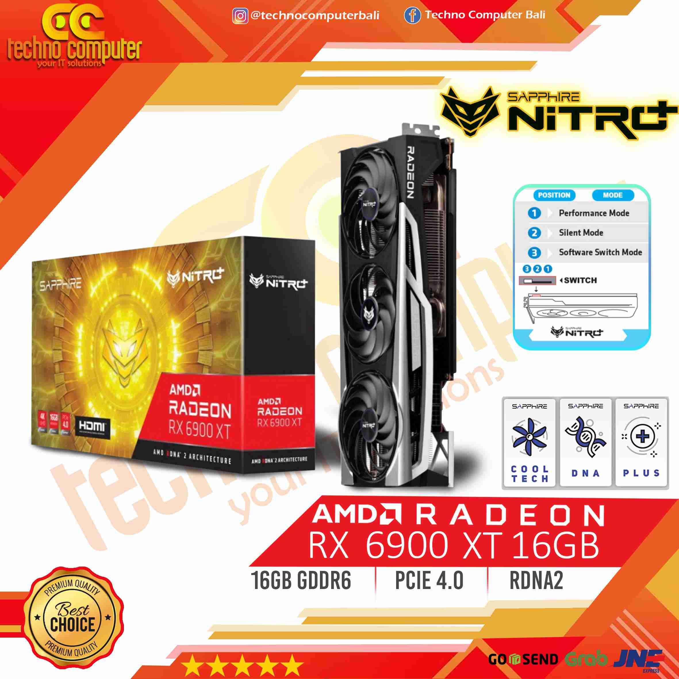 SAPPHIRE NITRO+ AMD RADEON RX 6900 XT 16GB GDDR6, AMD RDNA 2
