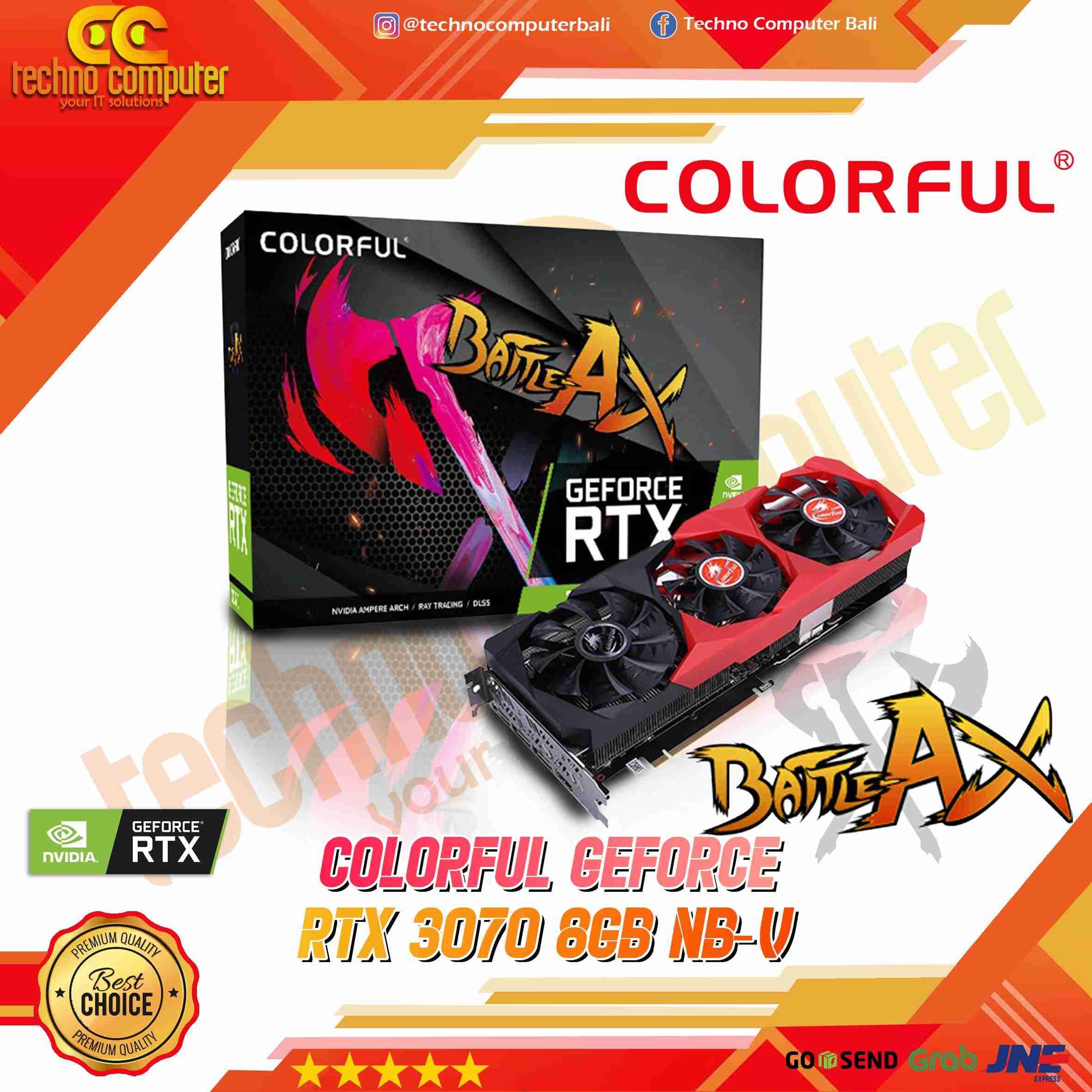 COLORFUL GeForce RTX 3070 8GB GDDR6 NB-V - Battle-AX