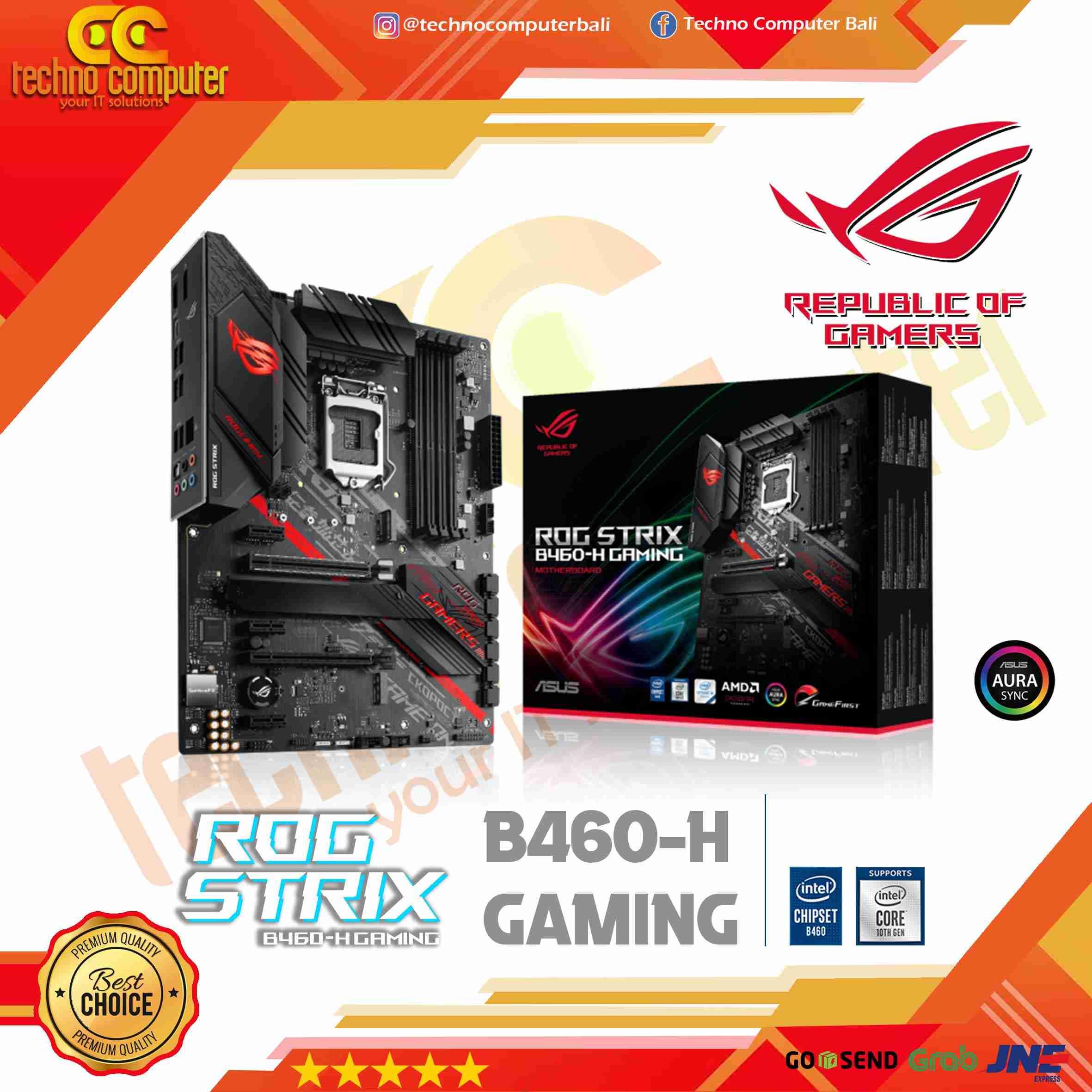 ASUS ROG STRIX B460-H Gaming (LGA1200, B460, DDR4, USB3.2, SATA3)
