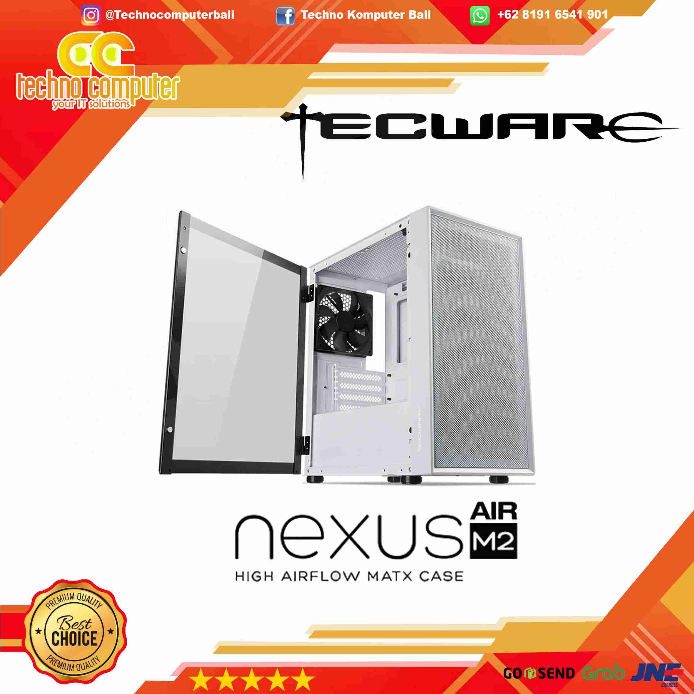 CASING TECWARE NEXUS AIR M2 - FREE 3pcs Fan
