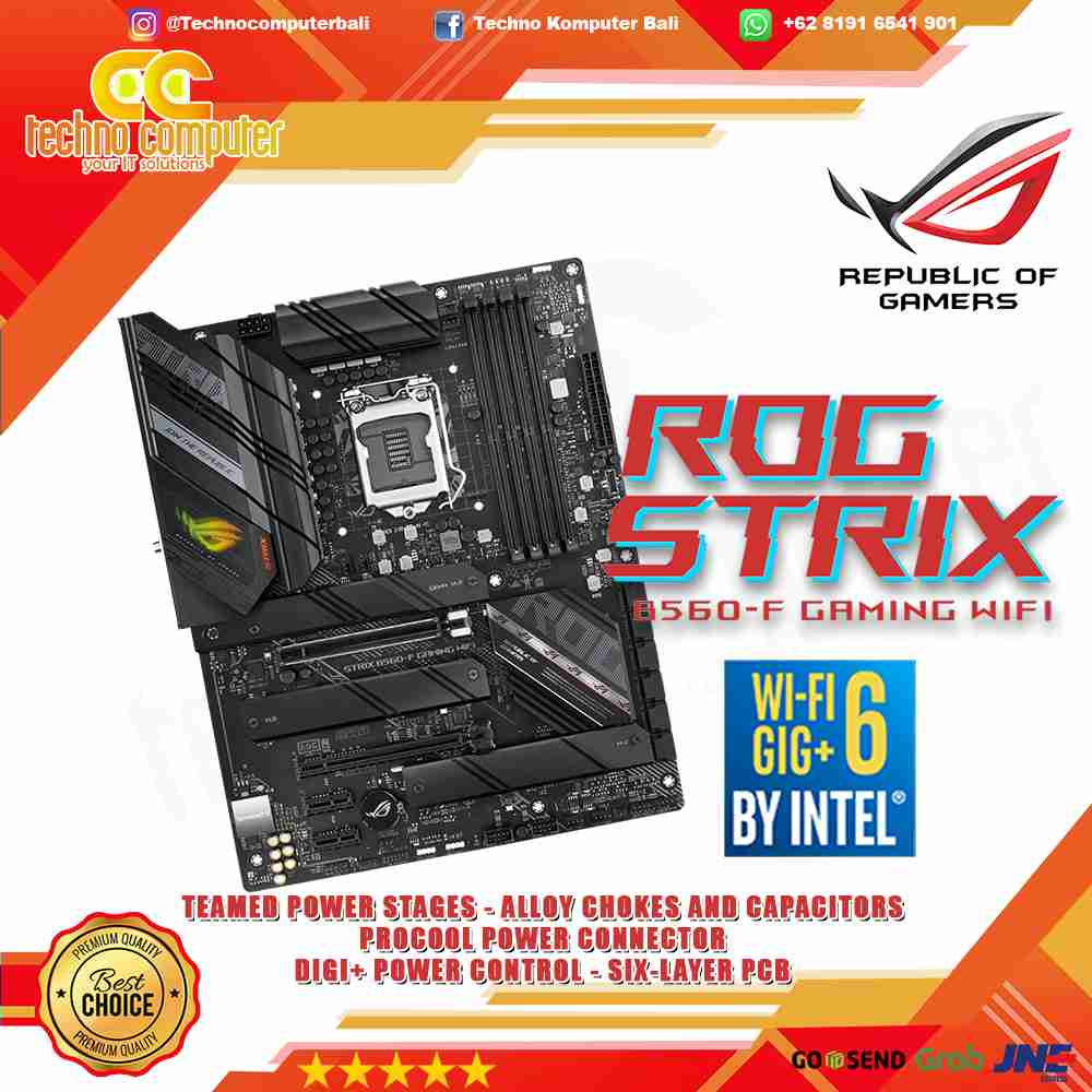 ASUS ROG STRIX B560-F GAMING WIFI - INTEL LGA 1200