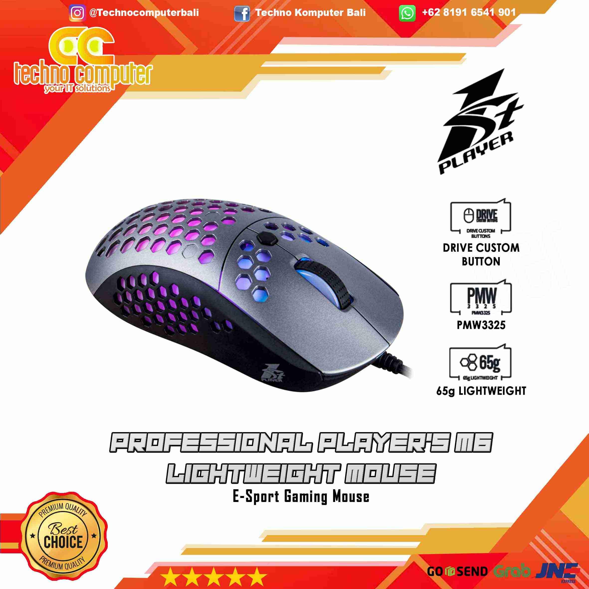 Mouse GAMING 1stPLAYER FIREBASE M6