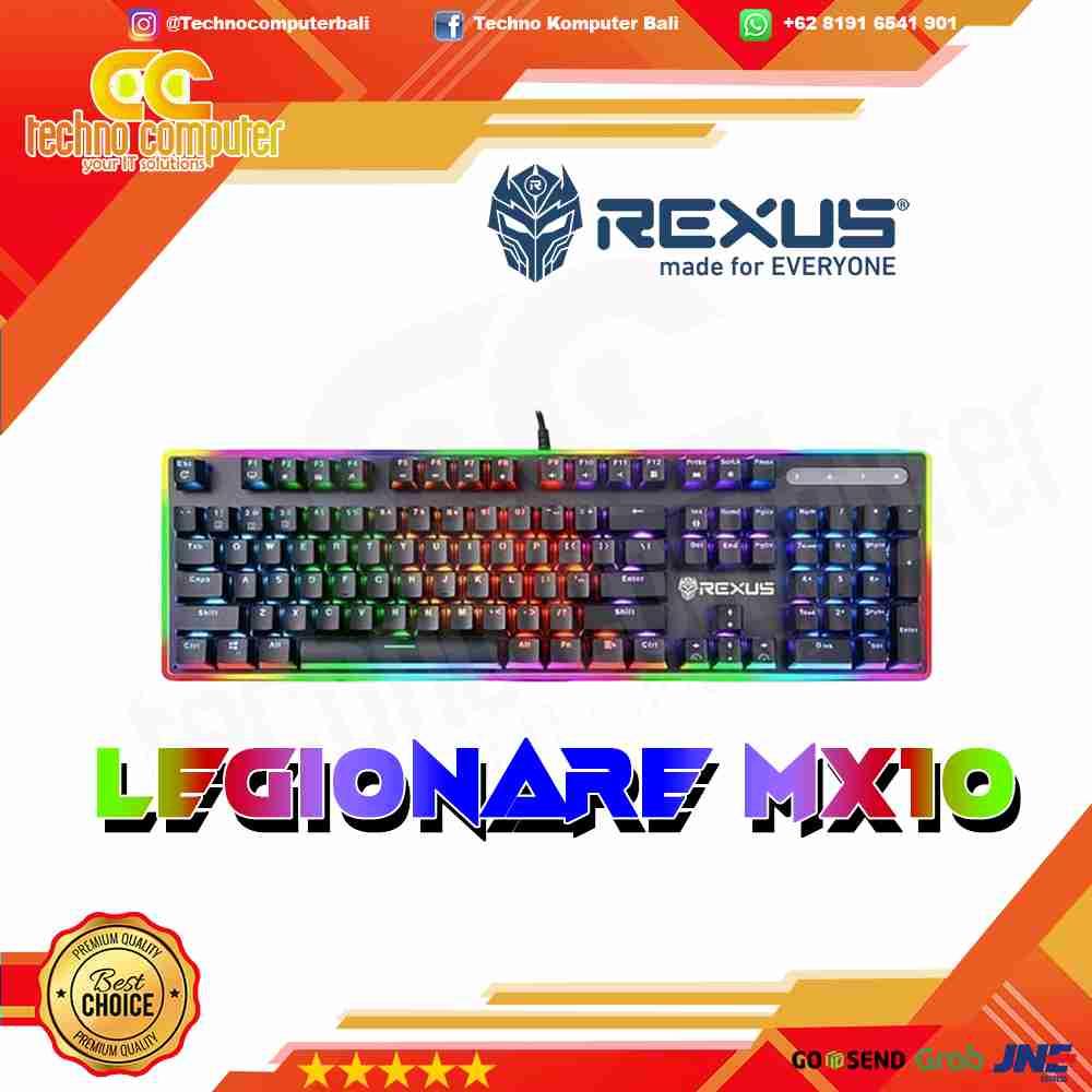 KEYBOARD GAMING REXUS MECHANICAL RGB MX10 BROWN SWITCH