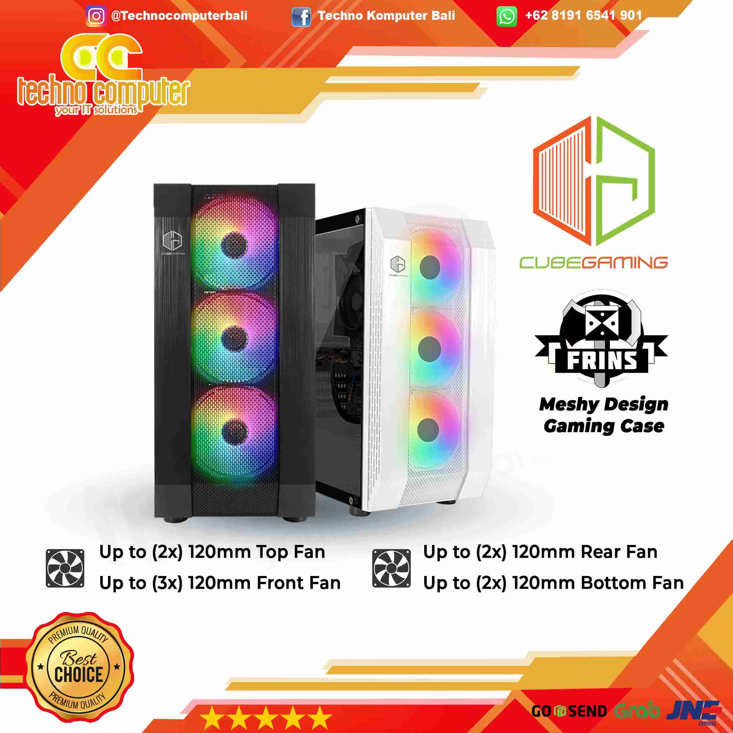 CASING CUBE GAMING FRINS WHITE