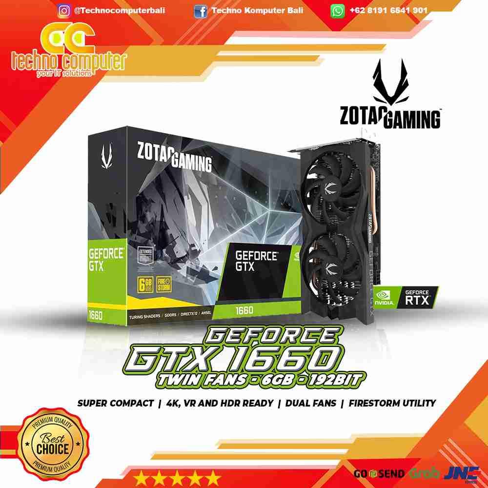 VGA ZOTAC 1660 TWIN FAN 6GB 192BIT GDDR5