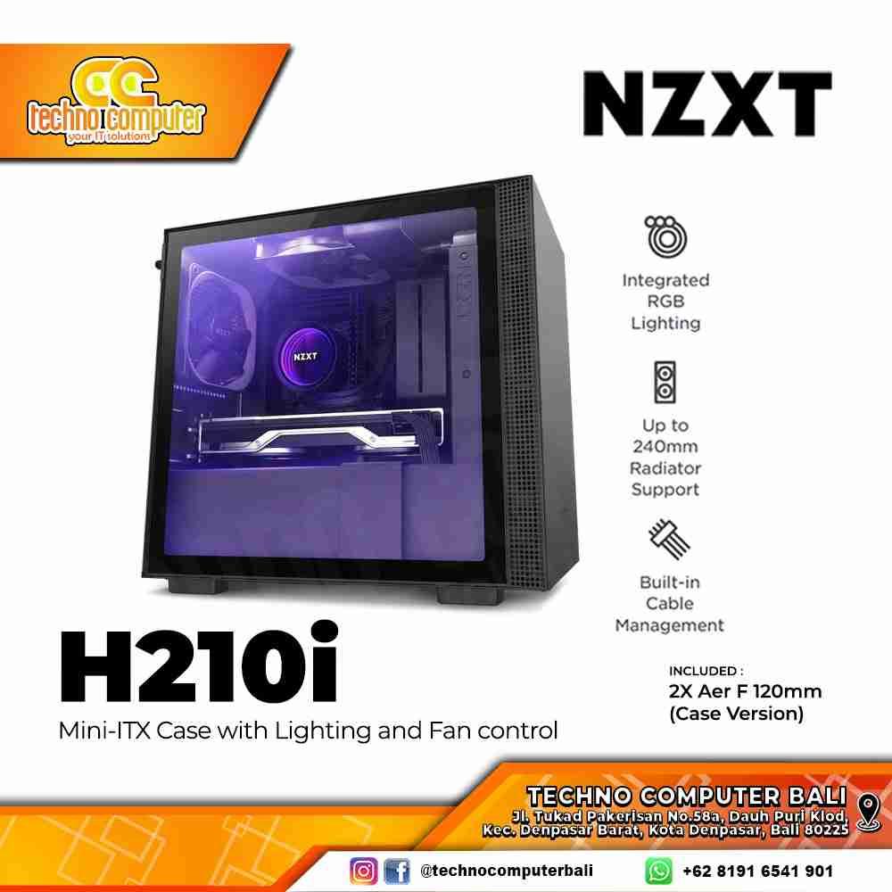 CASING GAMING NZXT H210i - MATTE BLACK Mini ITX CASE