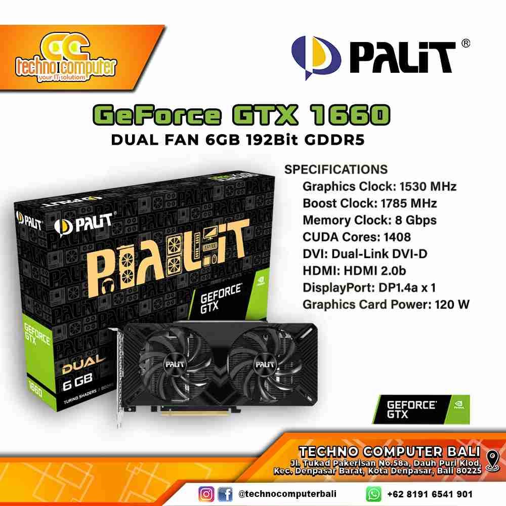 PALIT GeForce GTX 1660 DUAL FAN